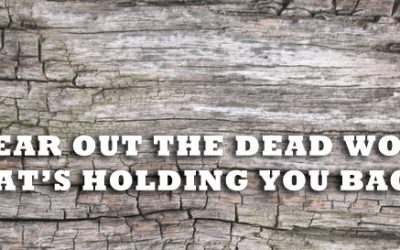 Clear Out The Dead Wood That's Holding You Back