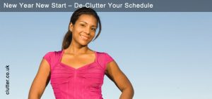 New Year New Start - De-Clutter Your Schedule